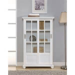 white bookcase walmart altra bookcase with sliding glass doors white walmart com