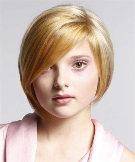 different haircuts for round face short hairstyles for round faces