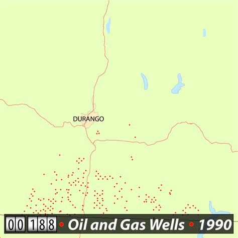 colorado and gas map the boom from above visualizing the rapid pace of