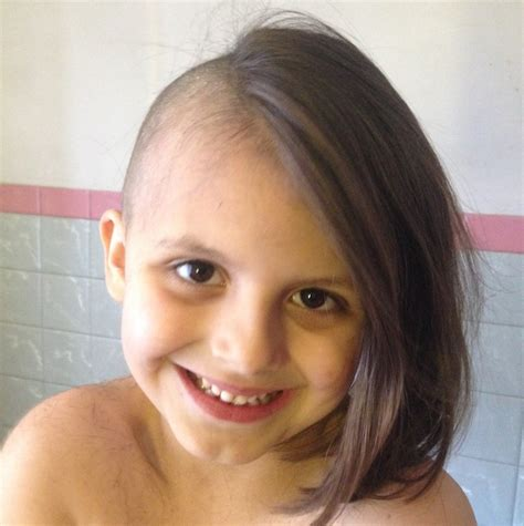 super cut six year old shaves her head just like dad