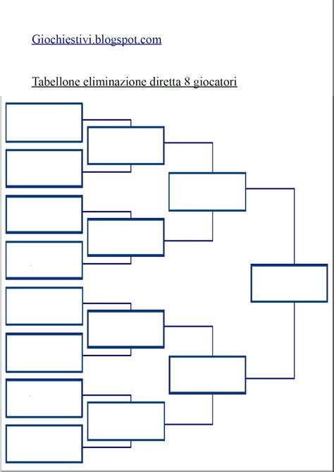 Calendario 5 Squadre Tabellone Per Torneo Individuale O A Squadre Ad