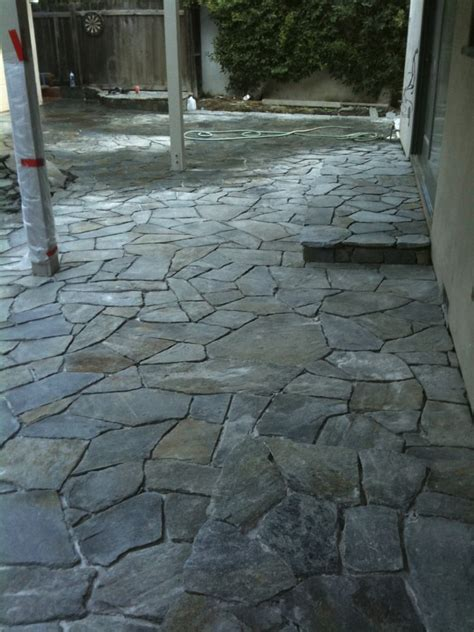 in the process sydney peak flagstone patio driveway and