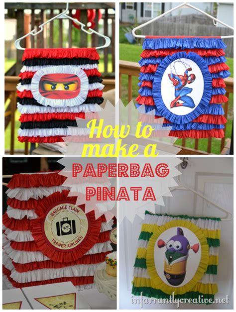 How To Make A Paper Bag Pinata - how to make a pinata infarrantly creative