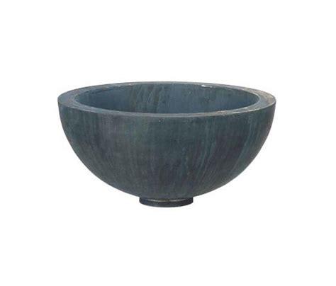 Half Planter Pots by Zinc Half Bowl Flowerpots Planters From Domani
