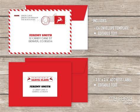 printable santa letter envelope printable letter from santa kit with envelope template