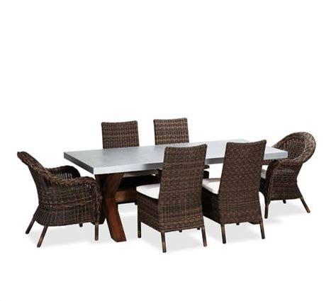 abbott zinc top rectangular fixed dining table torrey