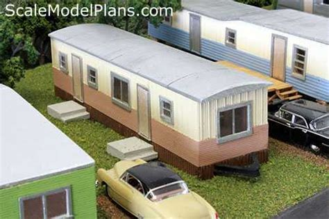 Craftowntoys Railroad Track Toys Papercraft n scale trailer park my paper models and creations