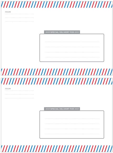 special delivery label template paging supermom