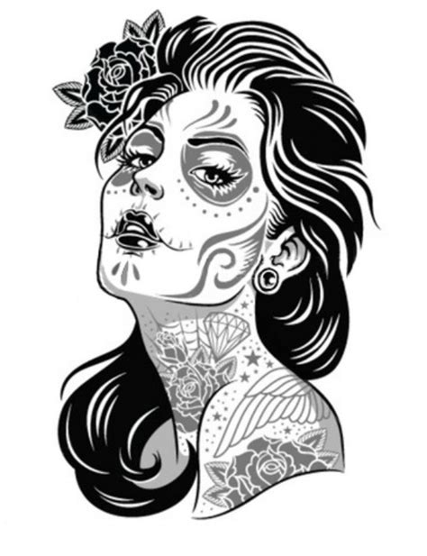 zombie pin up girl tattoos pin up stencil