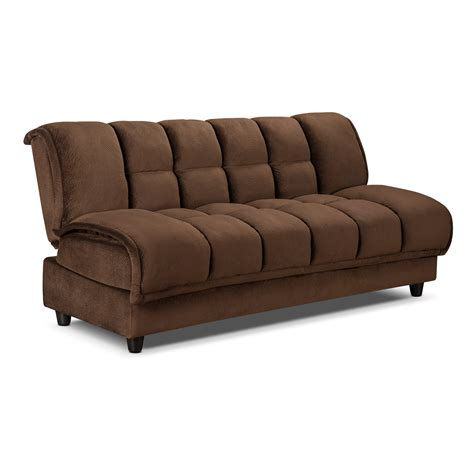 Darrow Futon Sofa Bed With Storage Furniture Com