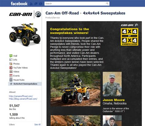 Can Am Giveaway - brp gets creative with social marketing atv com