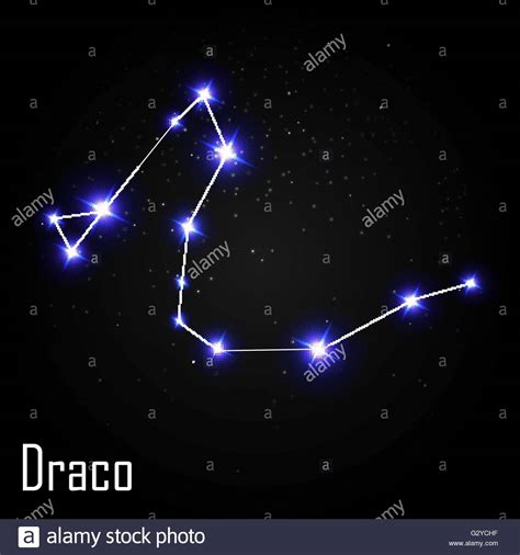 Constellation Draco by Draco Constellation With Beautiful Bright On The