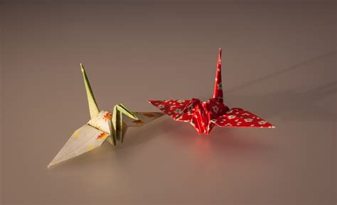 History Of Japanese Origami - file cranes made by origami paper jpg