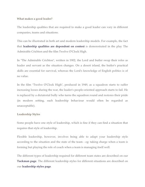qualities of a good leader essay get help from professional term