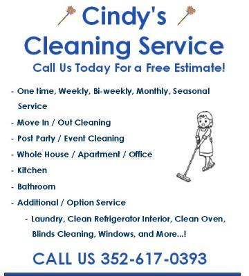 house cleaning jobs near me cindy s cleaning service belleview fl thumbtack