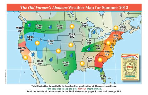 us weather outlook map promotional weather maps from the farmer s almanac