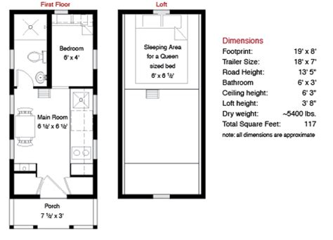 tiny house dimensions lusby tiny house plans build it yourself