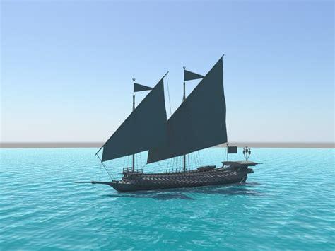 ottoman galley ottoman galley 3d model
