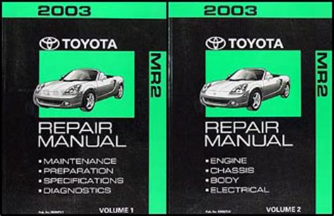 car repair manuals online pdf 2003 toyota mr2 regenerative braking 2003 toyota mr2 wiring diagram manual original