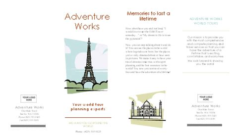 Brochure Template Word 2007 by Travel Brochure Template Microsoft Word 2007 Cover