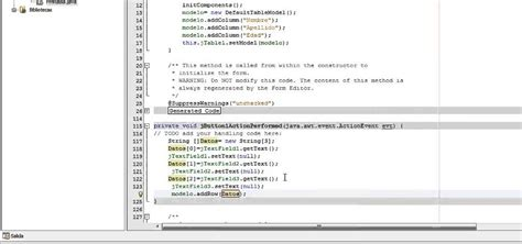manejo de cadenas en java netbeans insertar modificar y eliminar datos de una tabla en