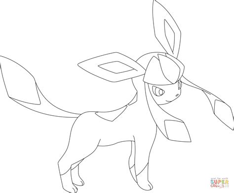 pokemon coloring pages glaceon glaceon coloring page free printable coloring pages