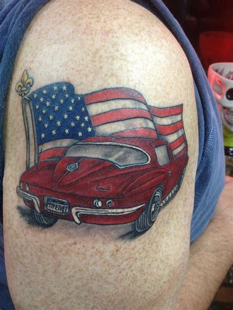 corvette station one color tattoos