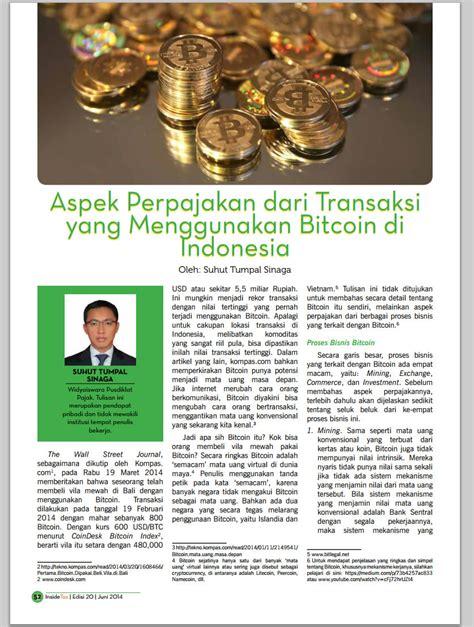 bitcoin legal di indonesia panduan perpajakan bitcoin di indonesia blog bitcoin co id