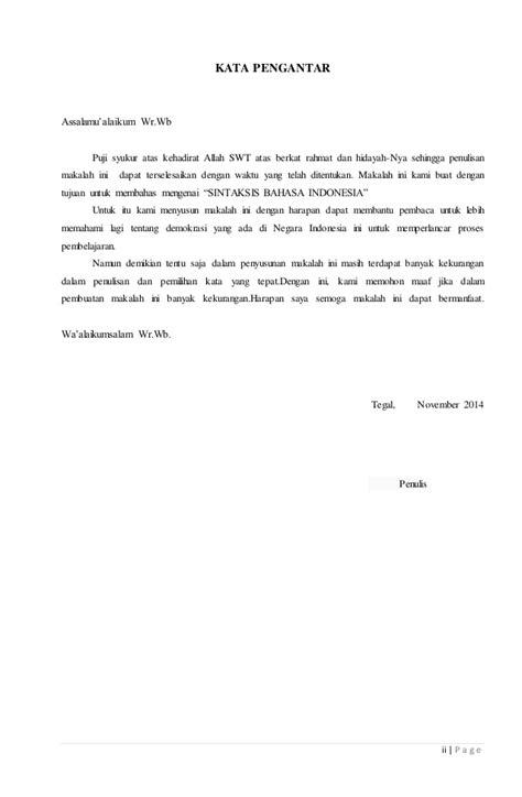 Sistaksis Bahasa Indonesia makalah sintaksis bahasa indonesia