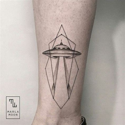 geometric ufo tattoo alien tattoo images designs