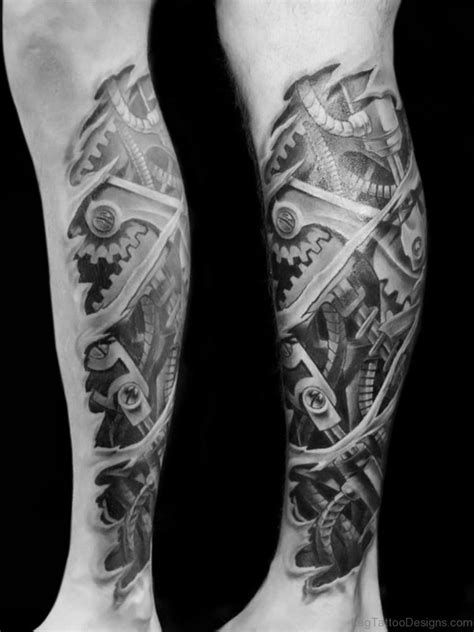 biomechanical leg tattoo designs 50 wonderful biomechanical tattoos on leg