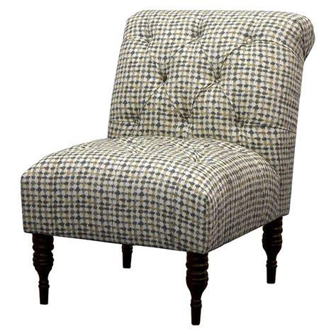 vaughn tufted slipper chair vaughn tufted slipper chair gray yellow grid target