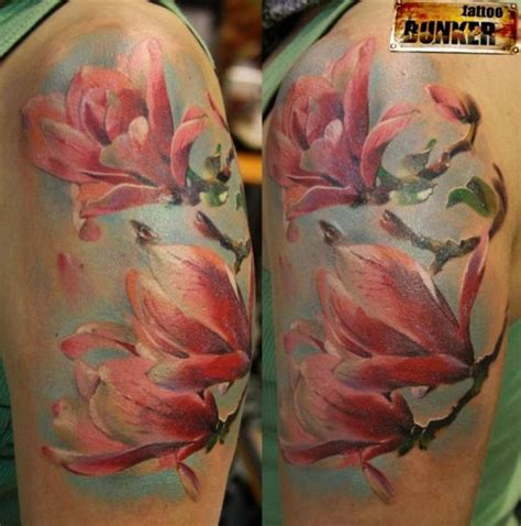 realistic flower tattoo shoulder realistic flower by mikky
