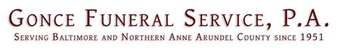 gonce funeral service re baltimore md funeral home and
