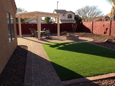 Backyard Landscaping Arizona by Maintenance Free Arizona Backyard Landscape
