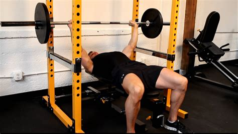 power lift bench press bench press safely with the powertec power rack with ian