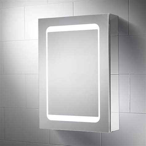 wickes earth led mirror cabinet with integrated shaver socket wickes co uk