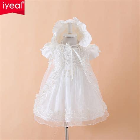 Dress Renda Baby baby christening gown dresses hat shawl vestidos