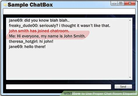 1 On One Chat Rooms - chat etiquette