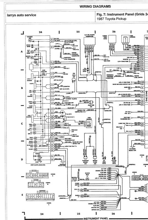1983 toyota guage wiring diagram 1983 automotive