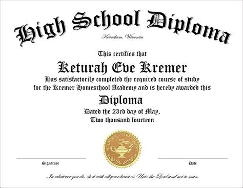 Free Diploma Templates 50 Free High School Diploma Template Printable Certificates
