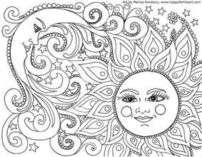 Sun Moon And Coloring Page moon coloring pages for adults images