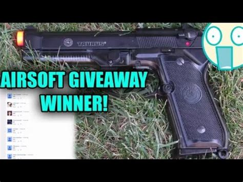 Airsoft Giveaway - airsoft giveaway winner taurus pt92 gbb airsoft pisto