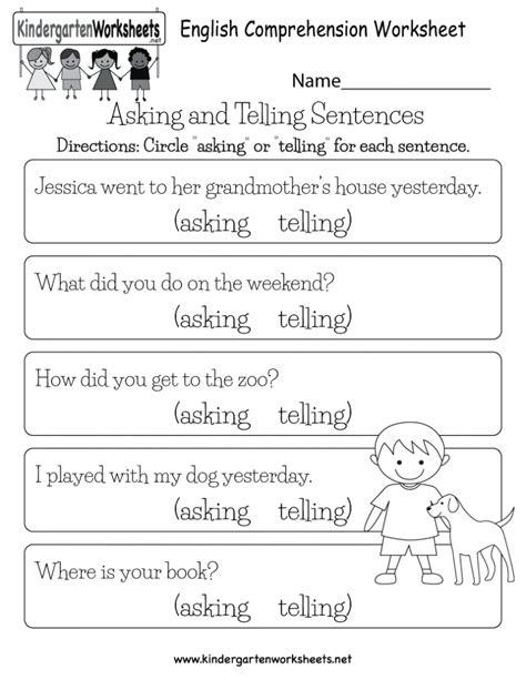 simple sentences worksheets for kindergarten worksheet