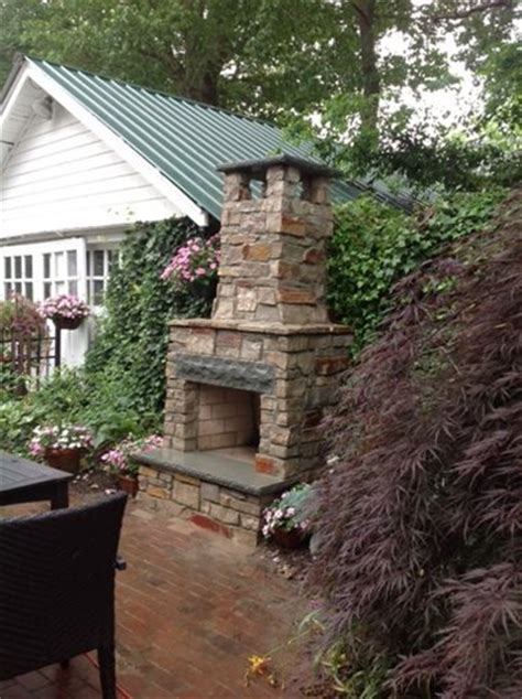 small backyard fireplace outdoor fireplace brick nj photo gallery