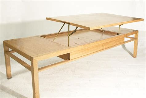 pull up top coffee table vintage 1950 s rectangular coffee table with hinged