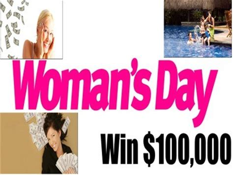 Womansday Sweepstakes - www womansday com giveaways win 100 000 to pay your bills or take your family on