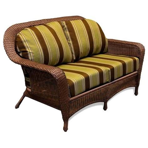 wicker loveseat replacement cushions replacement cushion tortuga outdoor lexington wicker