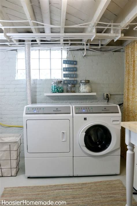 One of the best basement laundry room makeovers we have