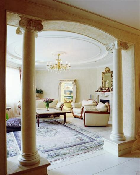Pillars In Home Decorating 35 Modern Interior Design Ideas Incorporating Columns Into Spacious Room Design